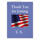 """Thank You for Joining US"" New American Citizen Card"