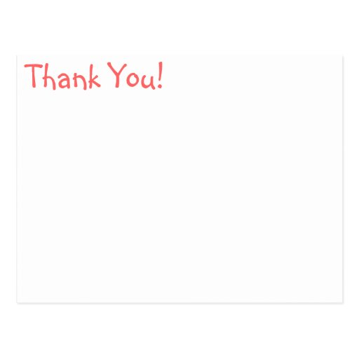 Thank You for kids birthday Post Cards