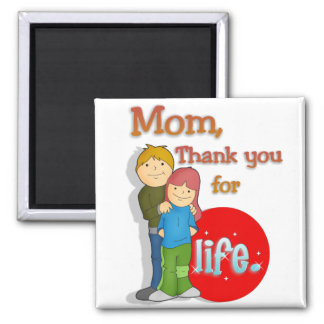 Thank You for Life Square Magnet