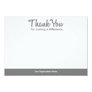 """""""Thank you for making a difference"""" notecard"""