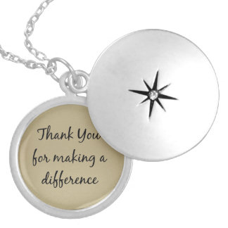 Thank you for Making a Difference Round Locket Necklace