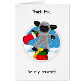 Thank You For My Christmas Presents - Little Sheep Greeting Card
