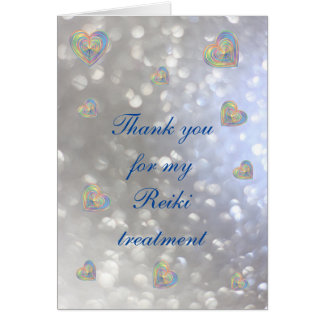 Thank you for my Reiki treatment Card