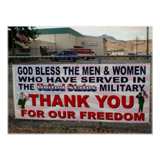 Thank You for Our Freedom Poster