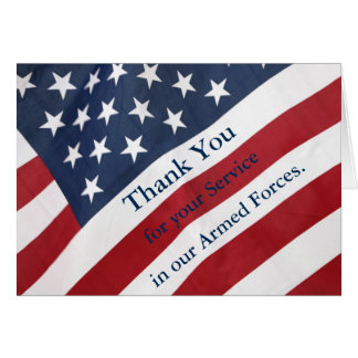Thank you for Service Armed Forces Greeting Card