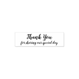Thank you for sharing our special day wedding self-inking stamp
