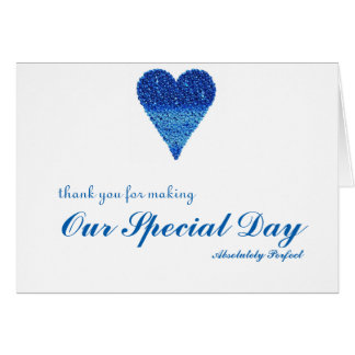 Thank you for special day with Bubbles Heart Greeting Card