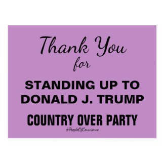 Thank You for Standing Up to Trump #Resistance Postcard