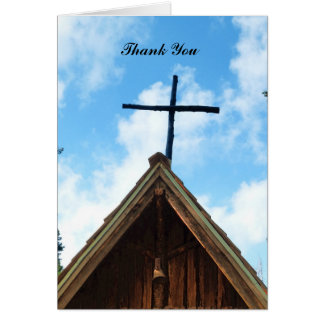Thank You For Sympathy Note Card, Old Church Card