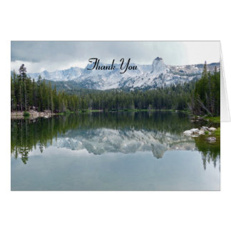 Thank You For Sympathy Note Mtn. Lake Reflection Note Card