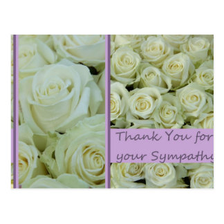 Thank you for Sympathy Postcard