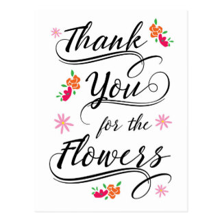 Thank you for the flowers Postcard