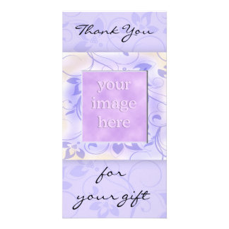 Thank you for the gift -lavender custom photo card