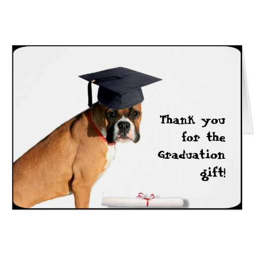 Thank you for the graduation gift boxer card