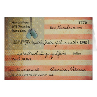 Thank you for Veteran on Veterans Day Card