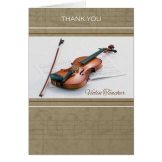 Thank You for Violin Teacher Card