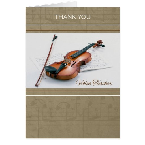Thank You for Violin Teacher Greeting Cards