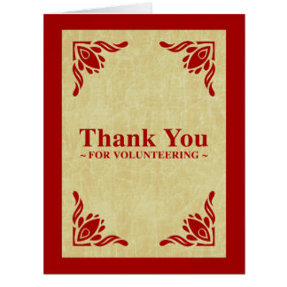 thank you for volunteering big greeting card