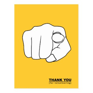 thank you for volunteering hand illustration