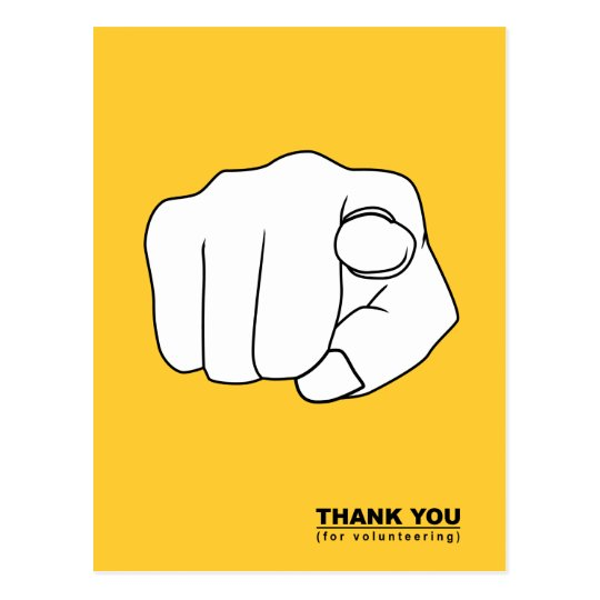 thank you for volunteering hand illustration postcard
