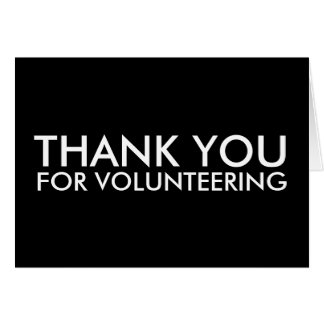 thank you for volunteering note card