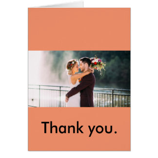Thank you (for wedding couple to say thank you) card