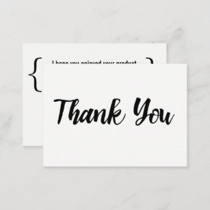thank you for your business card - Thank You For Your Business Cards