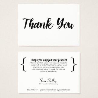 Thank You For Your Business Card