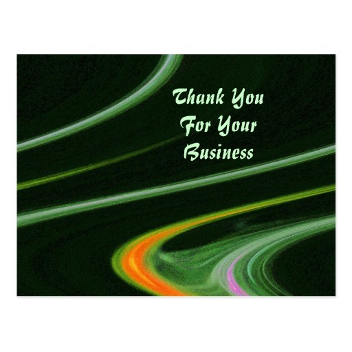 Thank You For Your Business Basket: Thank You For Your Business Postcard