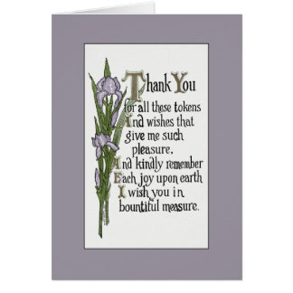 Thank You for Your Good Wishes Note Card
