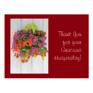 Thank You for your Gracious Hospitality! Postcard