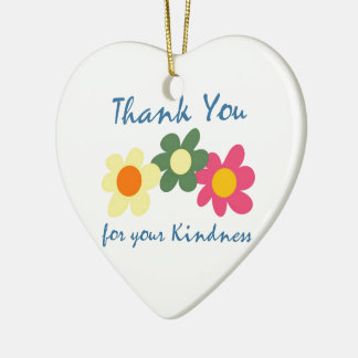 Thank You For Your Kindness Christmas Ornament