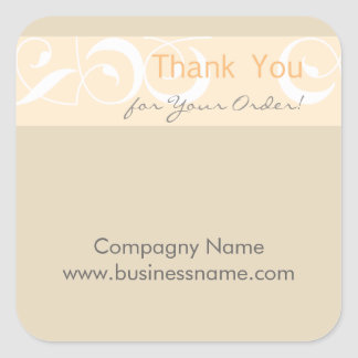 Thank you for your order Corporate Gray Sticker