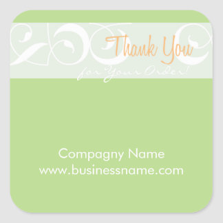 Thank you for your order Corporate Green Sticker