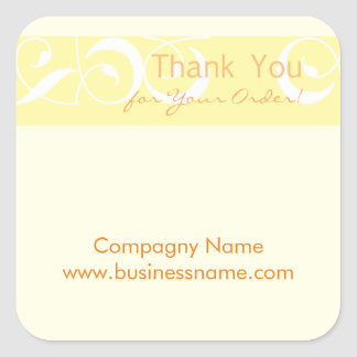 Thank you for your order Corporate Yellow Sticker