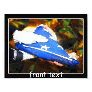 Thank You for Your Service 11 Cm X 14 Cm Invitation Card