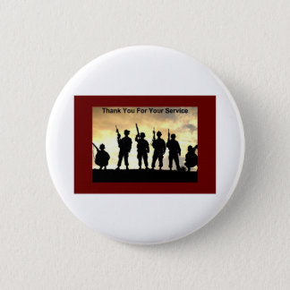 thank you for your service 6 cm round badge