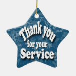 """""""thank you for your service ceramic star decoration"""