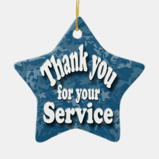 """""""thank you for your service christmas ornament"""
