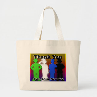 Thank You For Your Service Jumbo Tote Bag
