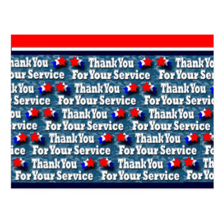 Thank You for Your Service Postcard