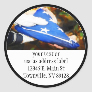 Thank You for Your Service Round Sticker