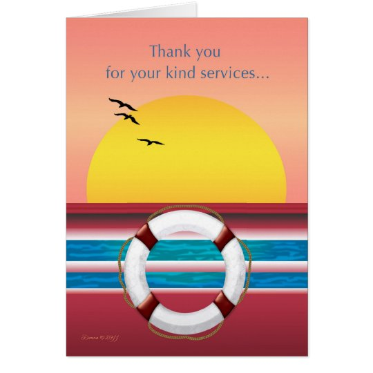 Thank you for Your Services - Cruise Ship