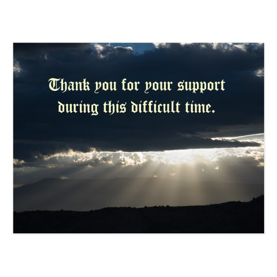 Thank you for your support during this di... postcard