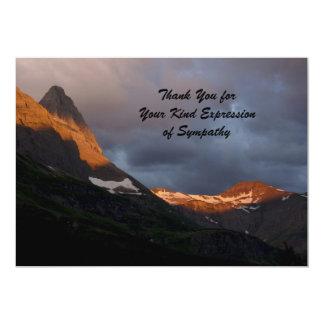 Thank You for Your Sympathy, Glacier Sunrise 13 Cm X 18 Cm Invitation Card