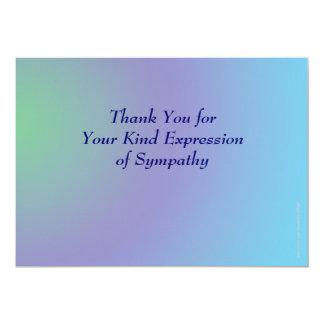 Thank You for Your Sympathy, Pastel Blue Purple 13 Cm X 18 Cm Invitation Card