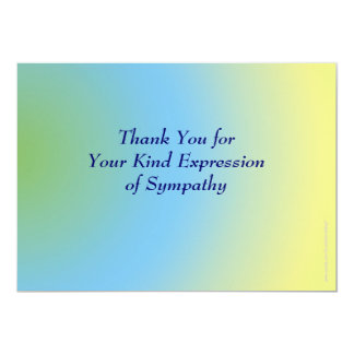 Thank You for Your Sympathy, Pastel Blue Yellow 13 Cm X 18 Cm Invitation Card