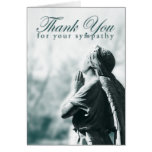 thank you for your sympathy (praying angel) note card