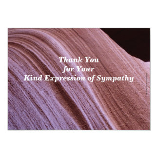 Thank You for Your Sympathy Sandstone Canyon 13 Cm X 18 Cm Invitation Card