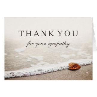 Thank You For Your Sympathy | Seashell on a Beach Greeting Card